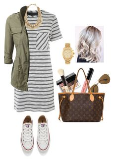 """""""Natural beauty"""" by jrowe1969 ❤ liked on Polyvore featuring Ray-Ban, Bobbi Brown Cosmetics, Louis Vuitton, Stella & Dot, Michael Kors and Converse"""