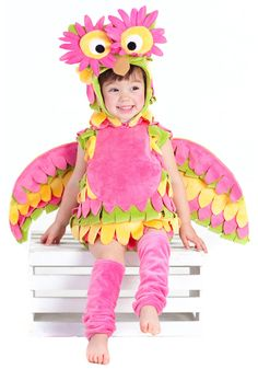 Little Colorful Owl Costume - Pink Owl Costumes for Kids