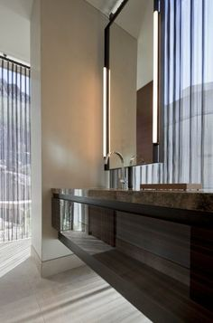 Awesome contemporary powder room by Swaback Partners, pllc