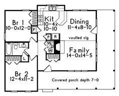 Cabin & Cottage House Plan First Floor - 058D-0030 | House Plans and More