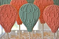 Around the World in 80 Days party - hot air balloon cookies!