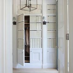 Hidden Closets With Faux Library Books