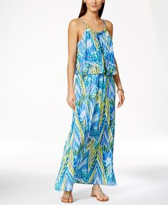40a291d22f4 NY Collection Printed Popover Maxi Dress Women - Dresses - Macy s