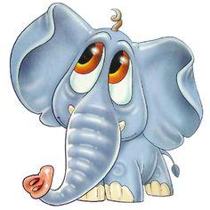 Cute Cartoon Elephants | Cute Cartoon Elephant Clip Art