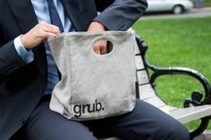 Amazon.com: Fluf Organic Cotton Lunch Bag, Grub: Reusable Lunch Bags: Kitchen & Dining