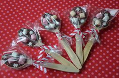 Chocolate marshmallow spoons : yummy !