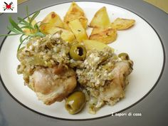 Coniglio arrosto con pinoli e olive