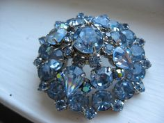 love blue vintage brooches
