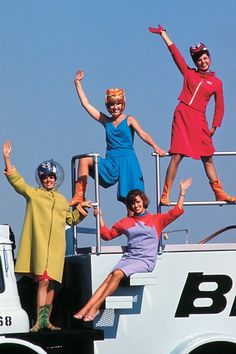 Pucci-designed flight attendant uniforms? Sign me up to be a stewardess!
