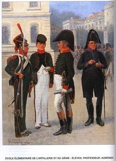Allievi, insegnante e cappellano militare della scuola militare di artiglieria e del genio polacca