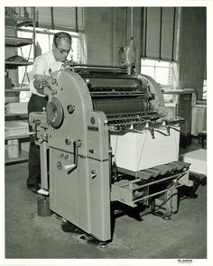 APH Museum: Research and Collections: Historic Printing Presses: Miehle-Goss-Dexter MGD-20 Offset Duplicator