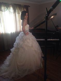 Soft romantic side updo on bride