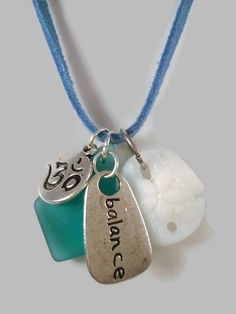 Sand Dollar Necklace Sea Glass Beach Jewelry Ocean Summer Om