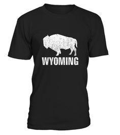 Distressed Wyoming State And American Buffalo Bison