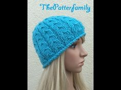 How to Knit a Cable Beanie Hat Pattern #22 │ by ThePatterfamily - YouTube