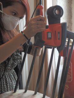 Pour les barreaux de chaise, il existe différents profils de ponçage. Un accessoire Indispensable si vous souhaitez gagner du temps ;) #DIY #Bricolage
