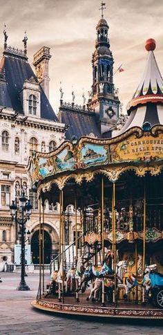 Travel to France - intriguing image Paris Travel, France Travel, Carrousel, Romantic Paris, Merry Go Round, I Love Paris, Carousel Horses, Jolie Photo, Amusement Park