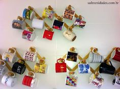 Ualmenidades: Cabideiro para coleção de canecas