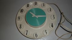 VINTAGE SPARTUS WALL CLOCK ATOMIC MID CENTURY RETRO MODERN 60'S OR EARLY 70'S | eBay