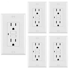 Pack] BESTTEN Self -Test GFCI Receptacle Outlet with LED Power Indicator, Decorator Wall Plate Included, Auto-Test Function, UL Certified, White *** Learn more by visiting the image link. (This is an affiliate link) Auto Test, Countdown Timer, 6 Pack, Light Sensor, Electrical Equipment, Plates On Wall, Packing, Led, Ebay