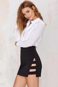 Nasty Gal Dominion Asymmetrical Skirt - Skirts | Skirts