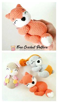Crochet Mouse, Free Crochet, Crochet Hats, Step By Step Crochet, Cute Fox, Craft Corner, Learn To Crochet, Crochet Animals, Free Pattern
