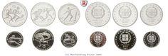 RITTER Griechenland, 2x 500, 2x 250, 2x 100 Drachmai, Leichtathletik-EM 1982, PP #coins #numismatics