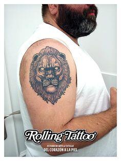 Tatuaje de León Heráldico | Ilustración y Tatuaje realizados por Javier Jiménez, tatuador e ilustrador en Rolling Tattoo Studio (Fuengirola). | Todos los Derechos Reservados | Lion Tattoo | Illustration & Tattoo made by Javier Jiménez, tattooist & illustrator in Rolling Tattoo Studio (Fuengirola) | All Rights Reserved | #LionTattoo #Leon #Tattoo #Tatuaje #Lion