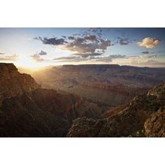 Grand Canyon west of Lipan Point Arizona Canvas Art - Terry MooreStocktrek Images (18 x 12)