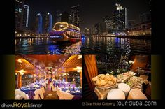 #dubai at #weekend is enjoyable! but our #tour is memorable. #enjoy the 2 hours #royaldinner while cruising across Dubai #marina & #JBR where the amazing #skyline and #buffet which is catered by #5star #hotel tour-dubai.com #luxury #lesire #travel #tourism #City #dinner