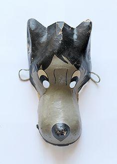 Карнавальная маска Волк, папье-маше