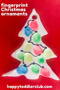 Looking for easy DIY Christmas ornaments for kids to make? These simple fingerprint Christmas ornaments are so easy you can make them with your toddler! These ornaments make a great DIY Christmas gift for grandparents from toddlers! Winter Crafts For Toddlers, Christmas Activities For Kids, Toddler Christmas, Crafts For Kids, Indoor Activities, Sensory Activities, Winter Activities, Homemade Ornaments, Christmas Ornaments To Make