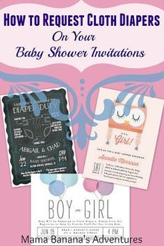 How to Request Cloth Diapers on Your Baby Shower Invitations with Minted #clothdiapers #makeclothmainstream #cloth4all #giveclothachance #clothdiaper #baby #pregnancy