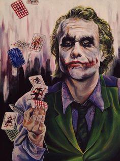 Is that an honest deck, Joker ? Le Joker Batman, Joker Cartoon, Batman Joker Wallpaper, Joker Iphone Wallpaper, Joker Comic, Joker Wallpapers, Joker And Harley Quinn, Batman Comics, Heath Joker