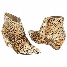 spotty animal print ankle boots