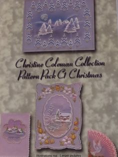 PATTERN PACK C1 BY CHRISTINE COLEMAN      Christmas patterns by Christine Coleman.