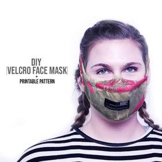 Face Mask Pattern + Printable Pattern - mask making Easy Homemade Face Masks, Easy Face Masks, Diy Face Mask, Sewing Projects For Beginners, Sewing Tutorials, Sewing Hacks, Tutorial Sewing, Mask Design, Mask Making