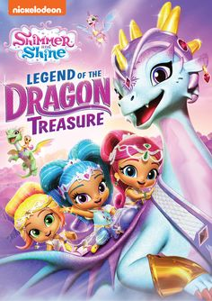 If your kids love Shimmer and Shine, then they're not going to want to miss this DVD. The Shimmer and Shine: Legend Of The Dragon Treasure has already been released. You can make sure to get your very own copy today! Dragon Family, Dragon Tales, Dragon Rider, Treasure Maps, Shimmer N Shine, Children And Family, All Brands, New Movies, Drake