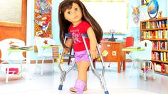 DIY American Girl Doll Crutches