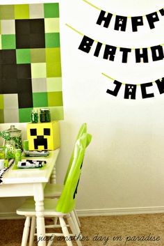 Just Another Day in Paradise: A Creeper Minecraft Birthday Party
