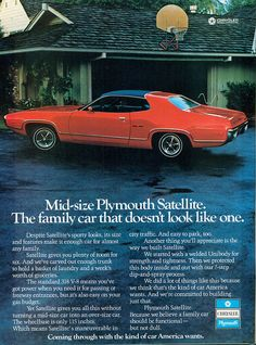 1972 Plymouth Satellite Sebring. Counts Customs had one it sold for $34,000