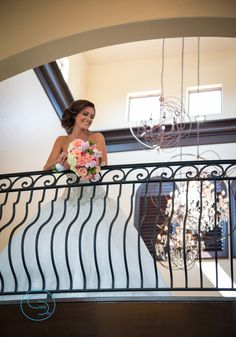 Bride on the catwalk in the chapel at the event space Chapel at Ana Villa   Photographer Chase Day