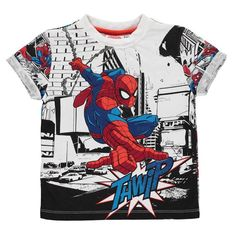 Boys Spiderman Comic Book T Shirt