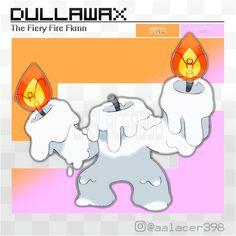 Dullawax, the Fiery Fire Fakemon by Aalacer on DeviantArt Oc Pokemon, Pokemon Fake, Pokemon Fan Art, Pokemon Fusion, Cute Pokemon, Play Pokemon, Family Feud Funny, Fire Fairy, Pokemon Breeds