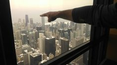 Matt pointing to Chicago