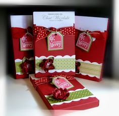Me, My Stamps and I: Fa la La Christmas-Boxed Sachets