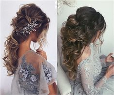 Are you looking for gorgeous long bridal hairstyle ideas? We have collected for you the most popular ideas from from Ulyana Aster: half-up half-down hairstyles, updos with different accessories, and a lot of others. ... #BridalHairstyle