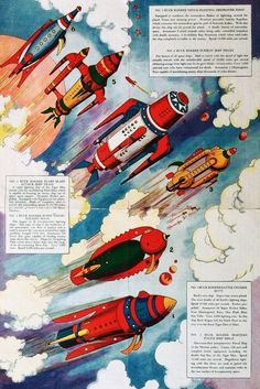 Old School Buck Rogers - Interplanetary Battle Fleet (1934)