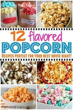 Popcorn Snacks, Candy Popcorn, Gourmet Popcorn, Popcorn Bar, Oreo Popcorn, Homemade Popcorn Seasoning, Homemade Flavored Popcorn, Popcorn Flavor Recipes, Pop Corn