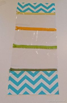 adding zippers to toiletry bag